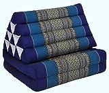 Wilai GmbH Cuscino triangolo Thai con piccolo materasso 2 pieghe, fabbricato in Thailandia, blu (82202)