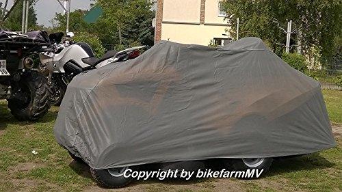 bikefarmMV INDOOR SOFT Plane Rasentraktor Abdeckplane Faltgarage