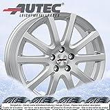 4 Winterräder Autec Skandic ECE 7.0Jx17 ET40 5x114,3 silber mit 215/60 R17 96H Hankook Winter i*cept evo W310 für Renault Kadjar