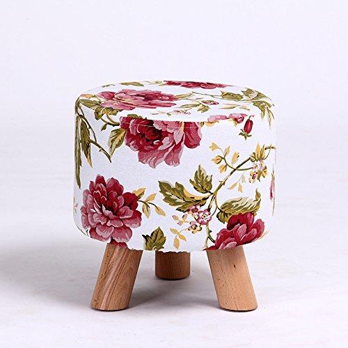 MANXUEUP Chair Hirtenart Blume Holz Bein Schuh HockerKind Baby Seater Tragbare Angeln Hocker Wohnzimmer Möbel Kinder ErwachseneOttomaneRot (Für Wohnzimmer Ottomane Rot)