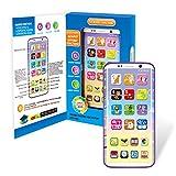 Daxoon Touch and Swipe Téléphone pour bébé, Appareil d'apprentissage de l'anglais – Jouet Intelligent pour Enfant (Grand écran courbé)