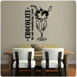 Wandaufkleber Wall Sticker quotes Chocolate The only aroma therapy I need Wall Decal Sticker Art Mural Home Decor Quote
