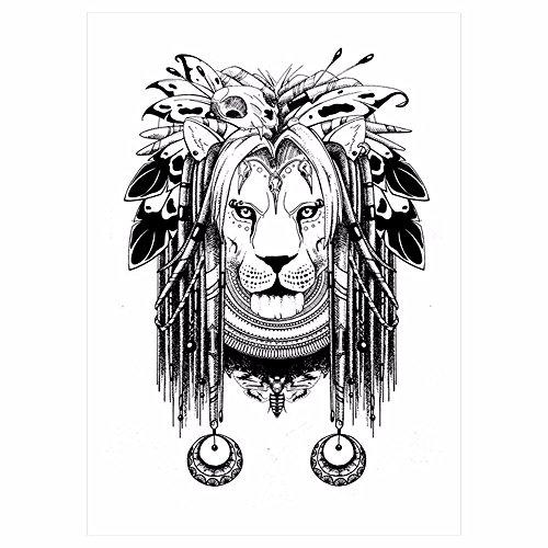 öwe Einmal Tattoo schwarz KM067 Lion King (Lion Tattoo)