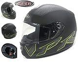 Motorradhelm Integralhelm VIPER Full Face Touren RennHelm RS-250 ELEMENTOR Sharp 4 Stern (S(55-56cm))