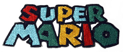 Super Mario Logo Patch Embroidered Iron on Badge -