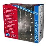 Konstsmide 3704-003 Microlight Eisregen Lichtervorhang/für Außen (IP44) / 24V Außentrafo / 160 klare Birnen/transparentes Kabel