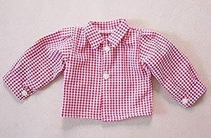 Camisa para muñecas Sturm 0924-0 de Color Rojo a Cuadros