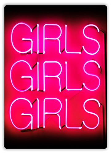 Las niñas Las Niñas Las Niñas-neón-Placa metálica para la pared con texto en inglés Art Inspirational