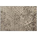 Sitap Alfombra Moderno efecto esculpido – Alfombra con dibujo de relieve Beige Genova 38199 – 6525 – 90