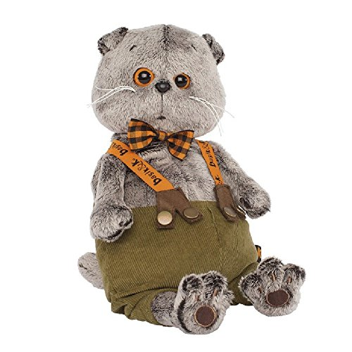 (Plüschkatze Basik&Co - In Lederhose 30 cm von BudiBasa - Spielzeug für Kinder & Babys weiche Kuscheltiere und süße Stofftiere für Mädchen und Jungen ideal als Geschenk bester Spielfreund)
