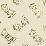 GLOW Metallic Oh! Jersey Foliendruck GOTS -