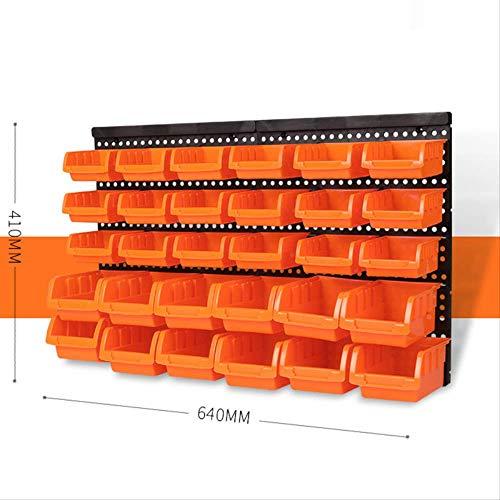 ACRDXFNeue Wand-Lagerplatz Rack Werkzeugteile Garage Einheit Regale Organizer Component Box Hängen Kunststoff Haken ToolboxSet C -