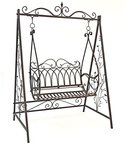 Schaukel Hollywoodschaukel Gondel 1868 aus Metall Schmiedeeisen Gartenschaukel - 6