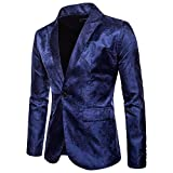 Sannysis Lässiger Blazer Herren Slim Fit Charm Männer Casual 1 Button Fit Anzug Blazer Mantel Jacke Tops Bluse Suits
