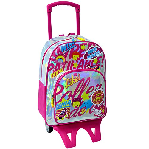 Soy Luna - Mochila adaptable con ruedas, color plateado (Toy Bags 012)