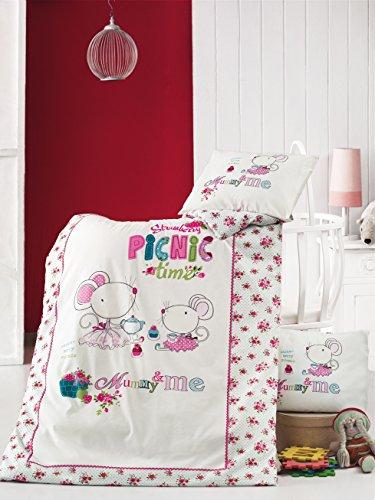 picnic-time-2-teilig-kinder-baby-bettwasche-fur-madchen-baumwolle-100x135-40x60-cm