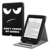Fintie Étui pour Kindle Paperwhite (10ème génération - 2018 / Tous Les modèles) - Coque de Protection Multi Angles Housse Cover avec Mise en Veille Automatique, Don't Touch