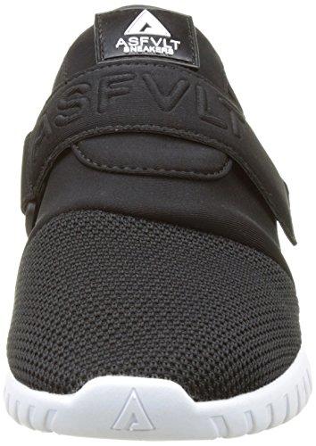 Asfvlt Area V, Baskets Basses Mixte Adulte Noir (Black Black White)