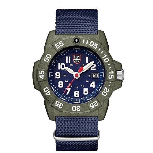 Luminox Mens Quartz Watch, Analogue Classic Display and Nylon Strap XS.3503.ND