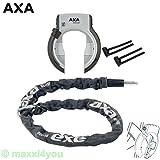 01200108-2-Ko-1 AXA Defender Art Rahmenschloss mit Axa Kette RLC100 + Axa-Flex, Pletscher, Silber