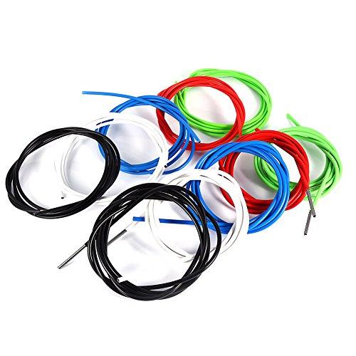 Tbest Fahrrad Bremszug Schaltzug Schaltseil Shifter Kabelgehäuse,2m Shifter Cable Fahrradbremse Shift Kabel Gehäuse Schlauch Kit Zubehör für Mountainbike (5mm- blau)