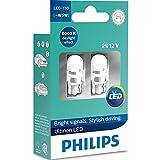Philips Ultinon LED W5W 6000K Bombillas de Coche (Doble) 11961ULWX2
