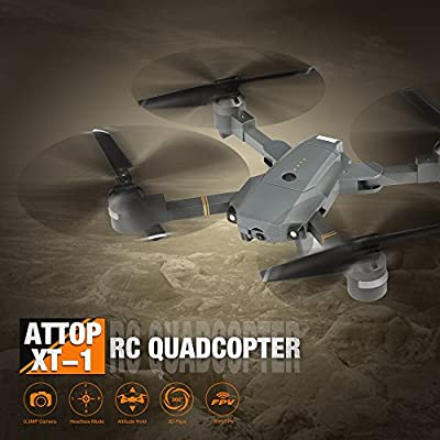 Dailyinshop Attop XT-1 WIFI FPV Drone Altitude Hold Foldable RC Quadcopter with Camera