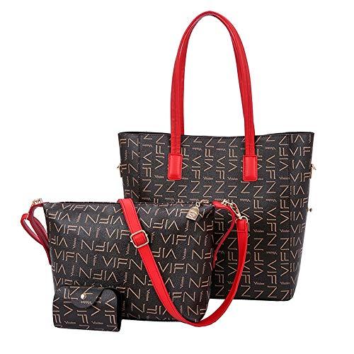 Ldyia Bag Damentasche alte Blume Umhängetasche Druck große Kapazität Mädchen Einkaufstasche, 3 Sätze, Stil DREI