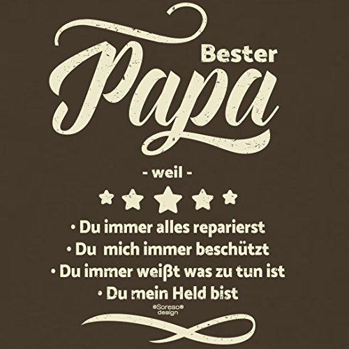 Fun T-Shirt - Super Papa - Das Geschenk zum Vatertag Geburtstag Weihnachten Farbe: schwarz braun-37