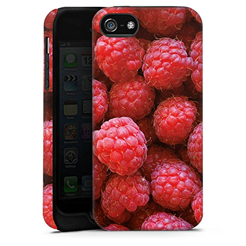 Apple iPhone 5c Silikon Hülle Case Schutzhülle Himbeere Raspberry Sommer Tough Case matt
