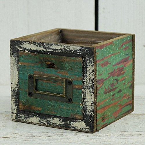 Homes on Trend Vintage Rustic Wooden Drawer Planter