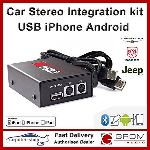 GROM Audio USB3 Integration Kit für USB-Laufwerk, iPod / iPhone oder Android-Handys für Chrysler / rasches Ausweichen / Jeep Iphone Integration Kit