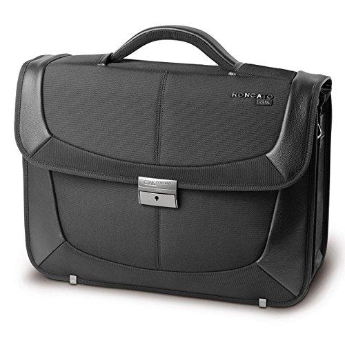 'Cartella Extra Largo-42x 34x 17cm-von Ciak Roncato per 15Laptop della Fach, COMPUTER PORTATILE, tasca per tablet, Organizer-Colore: Nero