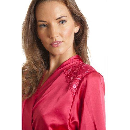 Robe de chambre en satin - femme - rose - tailles 38 à 52 Rose