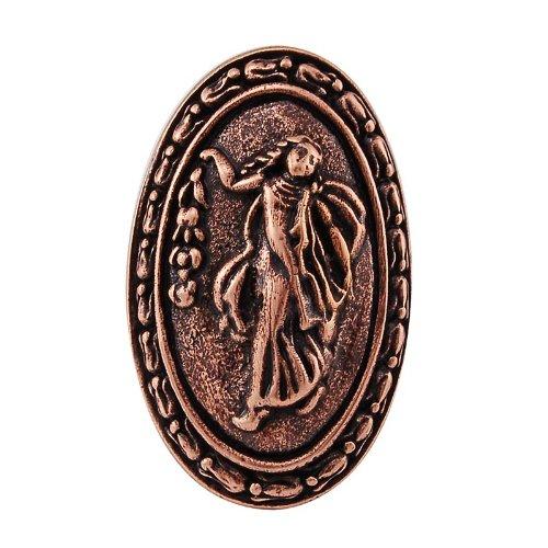 Vicenza Designs K1030P Sforza Small Base Woman Oval Knob, Large, Antique Copper -