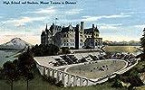 Tacoma, Washington–vue de High School, stade, MT. Tacoma 16 x 24 Signed Art Print multicolore