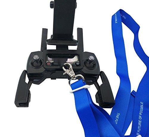 PENIVO Faltbare Unterstützung Halter Erweiterte Front Halterungen Ständer Fernbedienung 4 bis 10 Zoll Smartphone / Tablet für DJI Mavic Pro / Spark Drone (Umhängeband + Halter) - Front Halter