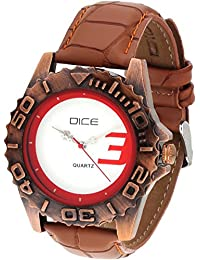 Dice Primus C-4058 Casual Round Shaped Wrist Watch For Men. Fitted With Attractive Red And White Color Dial And...