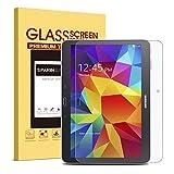 SPARIN Galaxy Tab 4 Advanced Displayschutzfolie, ausgeglichenes Glas-Schirm-Schutz für Galaxy Tab 4 Advanced 10,1 Zoll mit Scratch Resist Blasenfrei 2.5D Premium-Temperierte Arc Rand HD Klar