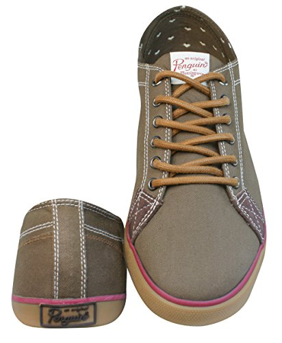 Penguin Brewton PU Hommes baskets / Chaussures Marron