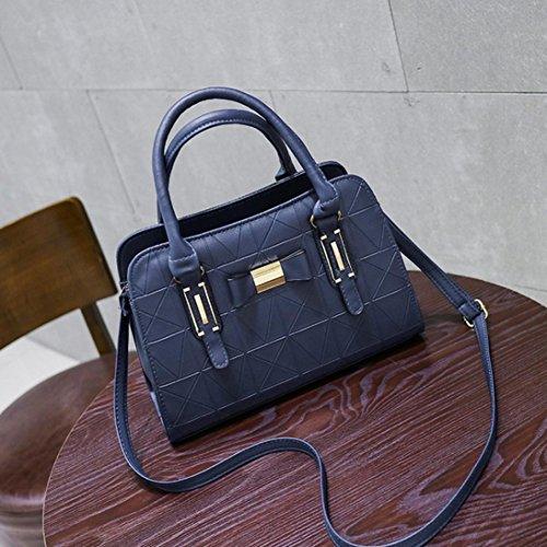 Damen Handtaschen, Huhu833 Mode Frauen Bowknot Umhängetasche Umhängetasche Handtasche Umhängetasche Blau