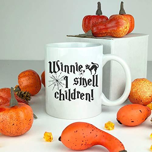 ich rieche Kinder Keramik Becher Hexe Becher Happy Halloween Hexen Fallen Becher Kaffeetasse lustiges Geschenk Keramik Halloween Becher lustig ()