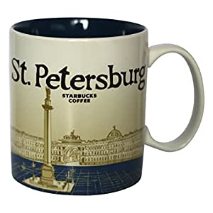 Starbucks tasse de la ville de saint-pétersbourg coffee cup + pott café russia russie icon série saint-pétersbourg