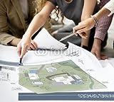 druck-shop24 Wunschmotiv: Co Working Space Architecture Plan Map Blueprint Design Concept #117780001 - Bild als Klebe-Folie - 3:2-60 x 40 cm/40 x 60 cm