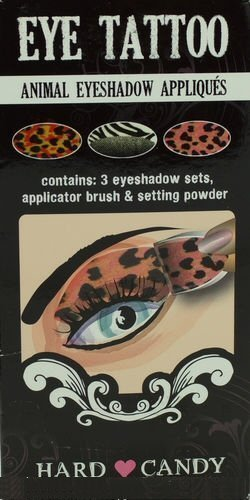 Hard Candy Eye Tattoo Animal Eyeshadow Appliques by Hard Candy (English Manual) (Candy Applique)
