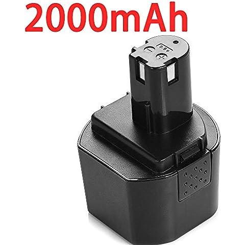 PowerHuge 9.6v 2.0Ah Reemplazo de batería para Ryobi P961 RY961 BID-900 BD-72 BD-90 CTH962K(9.6v 2000mAh(Ni-CD)