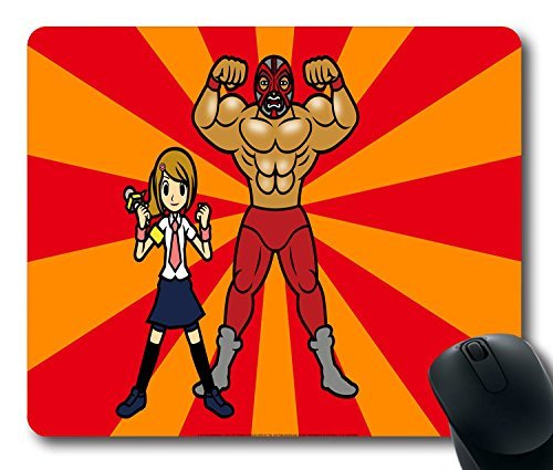 Custom with Rhythm Heaven Fever Wallpaper(10) Non-Slip Neoprene Rubber Standard Size 9 inch(220mm) X 7 inch(180mm) X 1/8(3mm) Desktop Mousepad Laptop Mousepads Comfortable Computer Mouse Mat -