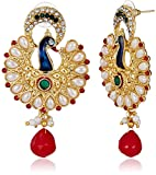 Ava Traditional Peacock Earrings (Multic...