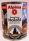 Alpina Premium Holzöl, 750 ml, Innen & Außen, Eiche