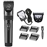 [Latest Version] Pet Grooming Clippers, Low Noise Rechargeable Cordless Home Pet Grooming Set, Electric Quiet Heavy Duty Trimming Kits for Dogs and